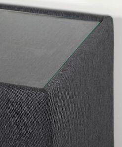 Hocker premium – Zwart - Met Glasplaat
