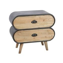 Uniek nachtkastje duverger trunk 2 lades matrasconcurrent - Moderne nachtkastje ...