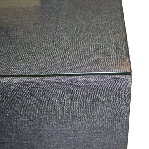 Hocker premium - Zwart ( met glasplaat)