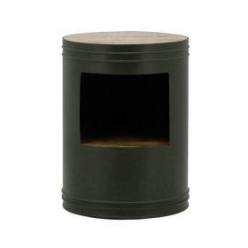By-Boo Nachtkastje Barrel – Groen