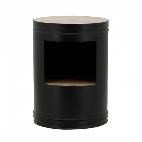 Bijzettafel zwart elegant bijzettafel vertig g metaal for Ronde nachtkastjes