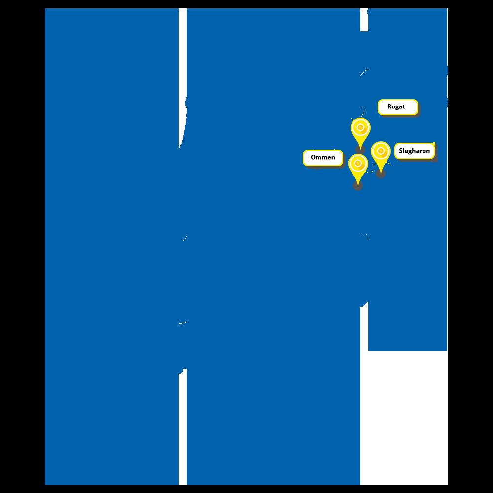 filialen kaart nederland