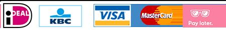 ideal, kbc, visa, mastercard, klarna