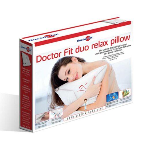 Hoofdkussen Doctor Fit - Duo Relax Pillow - Red