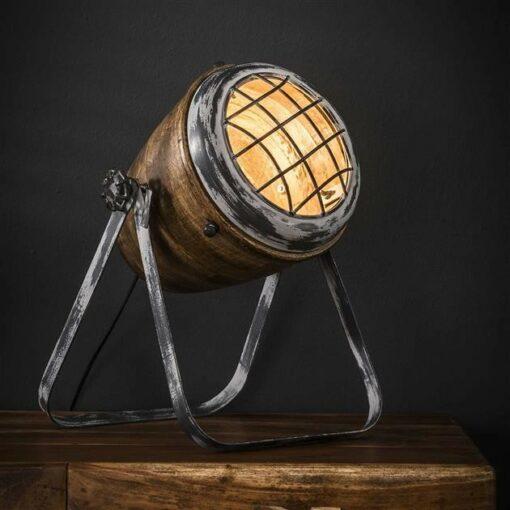 Nachtlamp Iron Houten Kap