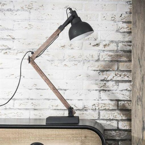 Nachtlamp Vintage - Houten Statief